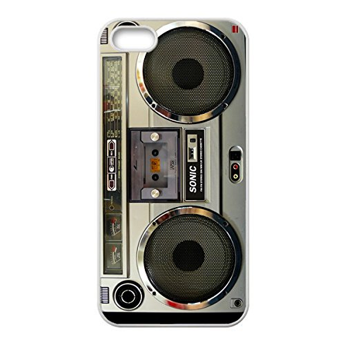 Nostalgic Boombox Vintage Hd Phone Case For Iphone 5/5S Case (White)