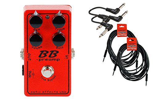 Xotic Effects BB Preamp OD Cable Bundle w/ 4 free Items: 2x 18.6' Strukture Cables, 2x Hosa Patch Cables