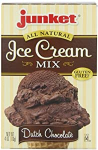 Junket Ice Cream Mix Chocolate, 4-Ounce (Pack of 12)