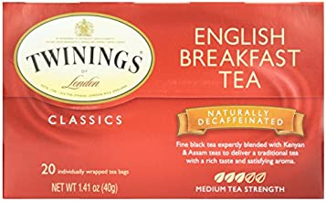Twinings English Breakfast Decaffeinated Tea - 20 tea bags