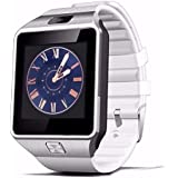 Amazingforless White Bluetooth Touch Screen Smart Wrist Watch Phone Mate With For Smartphone SIM TF Apple Iphone...