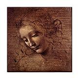 Female Head By Leonardo DaVinci Tile Trivet