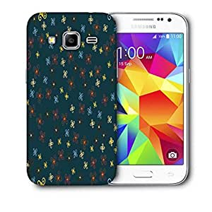 Snoogg Orange Blue Pattern Printed Protective Phone Back Case Cover For Samsung Galaxy CORE PRIME