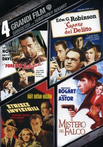 4 grandi film - Gangsters con Humphrey Bogart - La foresta pietrificata + Il sapore del delitto + Strisce invisibili + Il mistero del falco [4 DVDs] [IT Import]