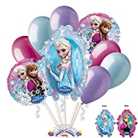 Disney Frozen Themed Balloon Bouquet Assortment (9 per package) Pkg/1 by PMU
