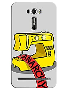 Blue Throat Anarchy Hard Plastic Printed Back Cover/Case For Asus Zenfone 2 (ZE601KL)