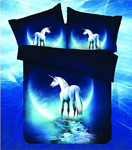 MZPRIDE 3d Mysterious Boundless Pure God Horse Bedding Sets Bedlinen Duvet/Quilt Cover Set Twin (Twin Horse Quilt compare prices)