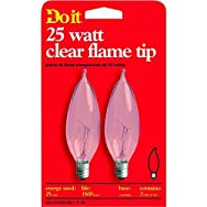 GE Private Label17787Do it Bent Tip Decorative Bulb-25W CLR BENT TIP BULB