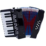 D'Luca G104-BK Kids Piano Accordion 17 Keys 8 Bass, Black