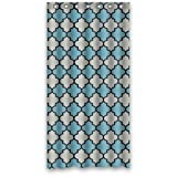 img - for Blue Gray Black Moroccan Trellis Shower Curtain,Latticework Shower Curtain Polyester Waterproof 36 book / textbook / text book