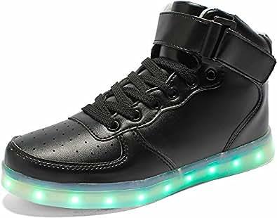 Amazon.com: Poppin Kicks LED Light Up Shoes Boy Girl Classic Leather