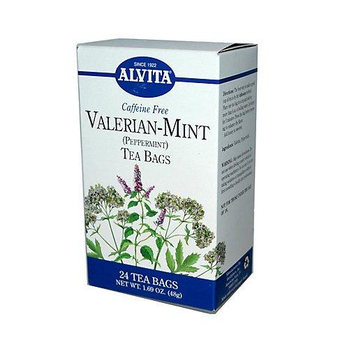 Alvita Valerian-Mint Caffeine Free, Peppermint 24 Tea Bags