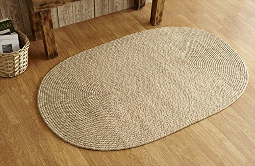 Better Trends / Pan Overseas Palm Spring Braided Rug, 3 x 5', Natural