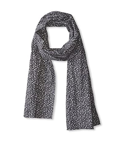 J. McLaughlin Men's Cotton Floral Scarf, Black/White