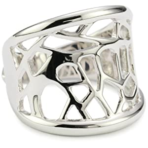 ELLE Jewelry Butterfly Pattern Sterling Silver Ring, Size 6