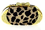Noble fashion handbag clutch evening bag clutch bag handbag oblique backpack leopard spots