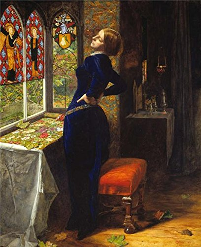 The Perfect effect Canvas of oil painting 'John Everett Millais - Mariana,1851' ,size: 30x37 inch / 76x93 cm ,this High Resolution Art Decorative Prints on Canvas is fit for Study decoration and Home gallery art and Gifts