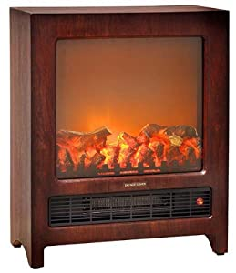 Amazon Com Comfort Zone 174 Console Style Fireplace Heater