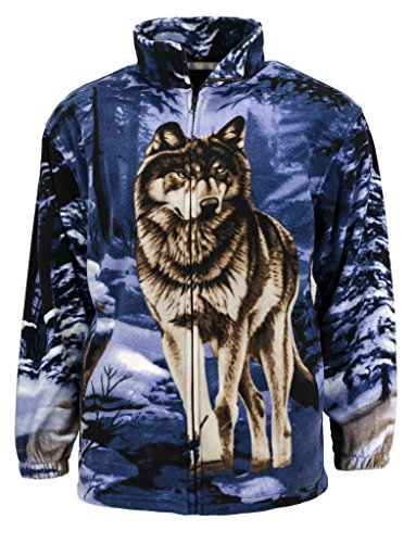 Trail Crest Men's Active Animal Print Jacket W/ Happy Hunting Magnet, XL, wolf