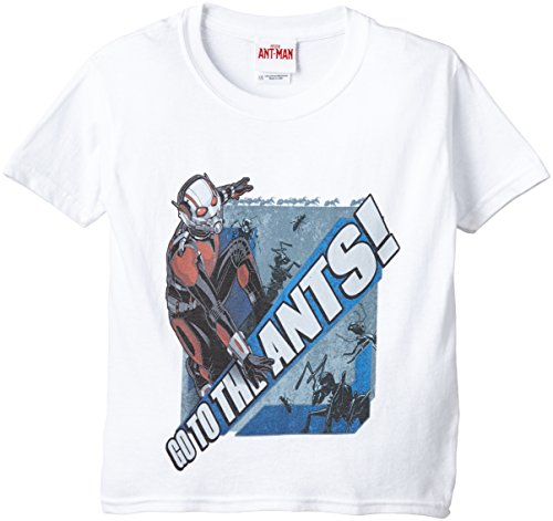 Marvel Ant Man Go To The Ants Men's T-Shirt-T-shirt  Bambino    bianco 7 anni
