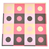 Tadpoles 16 Sq Ft Playmat Set, Pink/Brown
