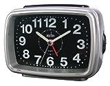 Acctim 13887 Titan 2 Alarm Clock, Silver/ Black
