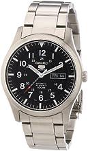 Comprar Seiko SNZG13K1 - Reloj analógico de caballero automático con correa de acero inoxidable plateada - sumergible a 100 metros (importado de Alemania)