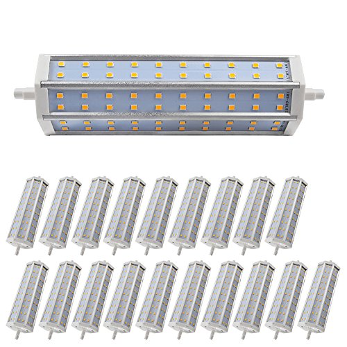 20X Light Low Consumption 3000-3500K Warm White Smd 2835 R7S Led Bulb 12W 1080Lm Non-Dimmable Ac 85-265V