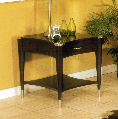 Cheap End Table with Tapered Legs in Espresso Finish (VF_AP-61-02)