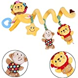 Newborn Baby Toys 0-12 Months Stuffed Stroller Toys Animal Baby Pram Bed Hanging Educational Baby Rattle