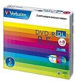【Amazonの商品情報へ】三菱化学メディア Verbatim DVD-R DL 8.5GB 1回記録用 2-8倍速 5mmケース 5枚パック ワイド印刷対応 ホワイトレーベル DHR85HP5V1