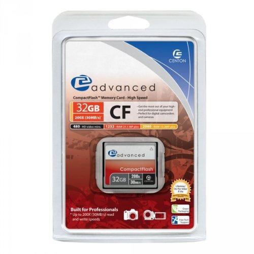 Centon 200X CF Type 1 – 32 GB Flash Card 32GBACF200X (Silver)