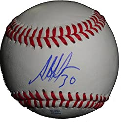 Alejandro De Aza Autographed ROLB Baseball, Chicago White Sox, Florida Marlin, Proof Photo