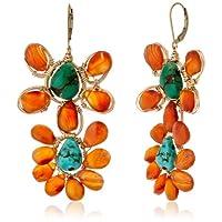 [アマンダ・ステレット] AMANDA STERETT 天然石フラワーモチーフピアス F0213 Earrings