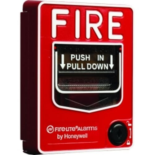Fire Lite Alarms BG-12 Fire Alarm Dual Action Manual Pull Station, Red (Color: Red)