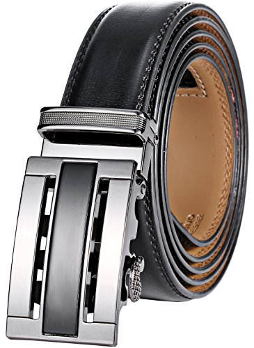 Marino Men's Genuine Leather Ratchet Dress Belt with ...