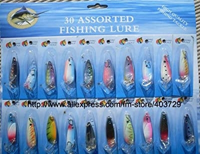 Fishing Spoon Mix Color 10 by Artificial Bait