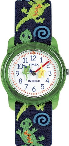 Timex Kids T72881 Analog Lizards Elastic Fabric Strap Watch