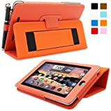 Snugg™ Nexus 7 Case - Smart Cover with Flip Stand & Lifetime Guarantee (Orange Leather) for Nexus 7