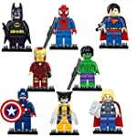 8 Pcs SUPER HEROES MINI FIGURES FULL...