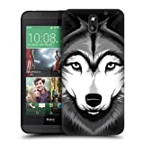 Head Case Designs Grey Wolf Big Face Illustrated Protective Snap-on Hard Back Case Cover for HTC Desire 610