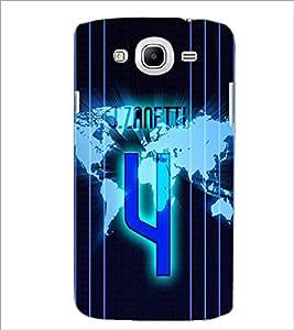 Printdhaba Number 4 D-3913 Back Case Cover For Samsung Galaxy Mega 5.8