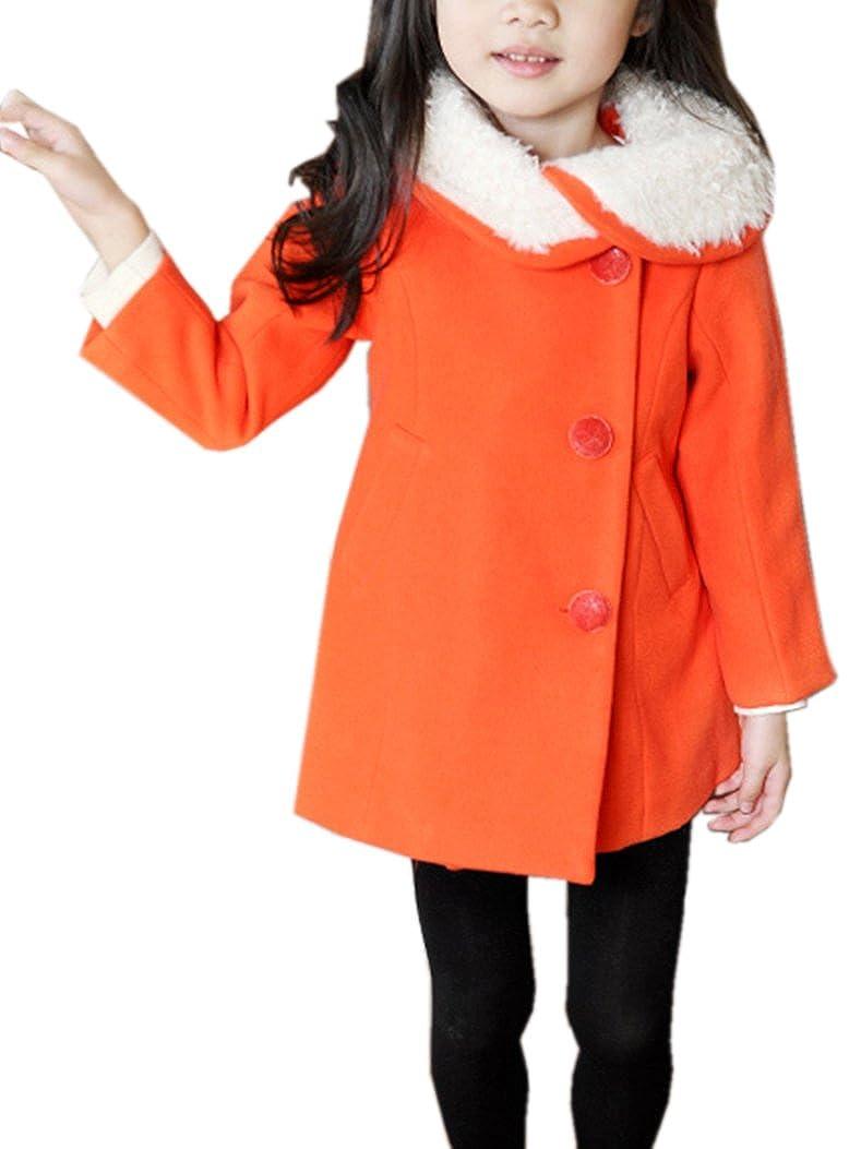 Amazon.co.jp: (ラウンドアース キッズ) Round Earth Kids アシンメトリー な 丸襟 が おしゃれ な 女の子 の為の シングル コート 100 ~ 150 まで: 服&ファッション小物通販