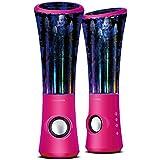 SoundSOUL Dancing Water Speakers LED Speakers Water Fountain Speakers Mini Misic Amplifier(6 Colored LED Lights...