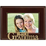 Malden I Heart Brass Word Grandma Picture Frame, 4-Inch by 6-Inch