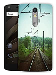 "Humor Gang Railroad Track Printed Designer Mobile Back Cover For ""Motorola Moto X Force"" (3D, Matte, Premium Quality Snap On Case)"