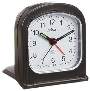 Atlanta 1267-7 - Reloj despertador analógico para viaje negro por Atlanta