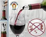 6 Stück Drop Stop Ausgiesser DropStop® Weinausgiesser...