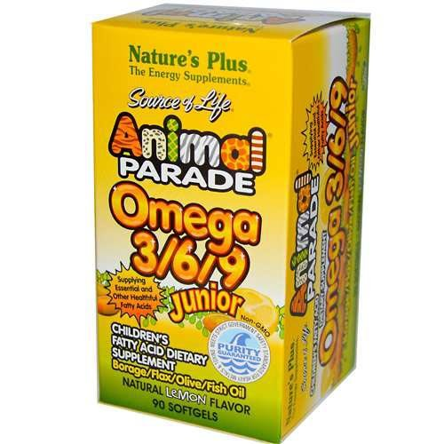 Nature's Plus Source of Life Animal Par Omega3 6 9 Lem 90SG (Animal Parade Omega 3 compare prices)