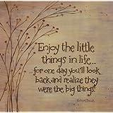 """Enjoy The Little Things in Life by Karen Tribett 12""""x12"""" Art Print Poster"""